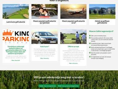 Golf arrangmenet wordpress website