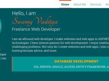 My Personal Website vswamy.com