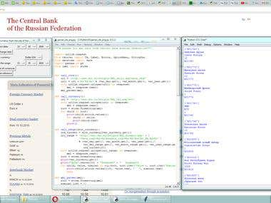 XML parcer for extrctind data from Russian Central Bank webs