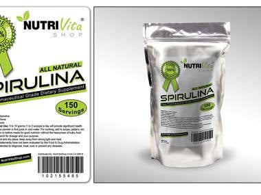 Spirulina package design