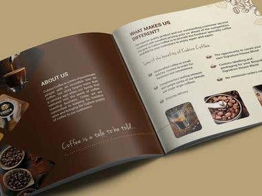 Brochure Design for Specialty Coffee Roaster
