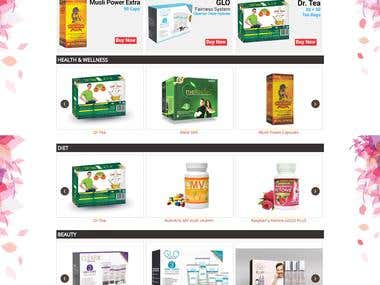 Shpping Cart to Sell Herbal Products