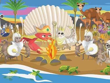 vectorial illustrations  for children book