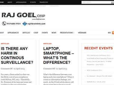 Raj Goel's Website