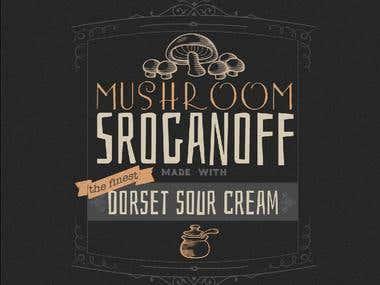 Label Design : Mushroom Stroganoff