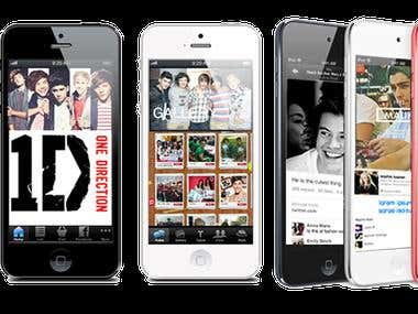 Mobile App Design - One Direction