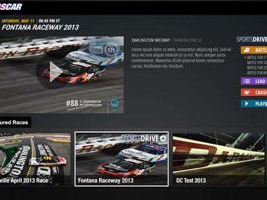 Samsung Smart TV & Nascar Heads up Display (HUD)