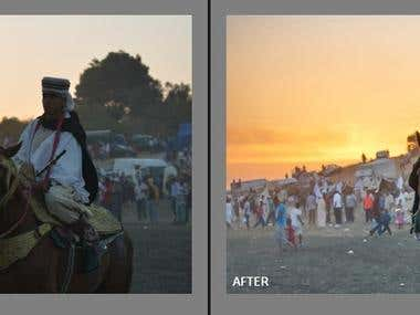 Color and Light correction