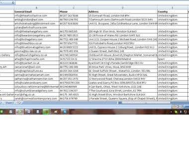 Web research & Data entry