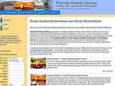 FloridaHomesDisney.com (a vacation rental website)