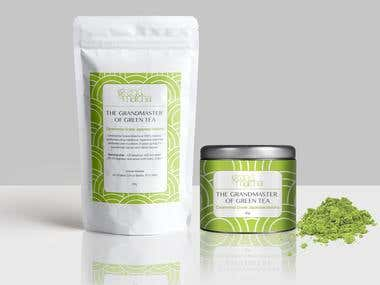 Label Design for Matcha Green Tea