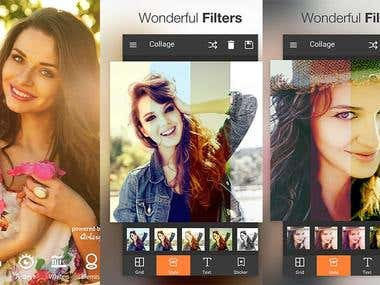 Photo Edit Applicatoin for iOS, Android