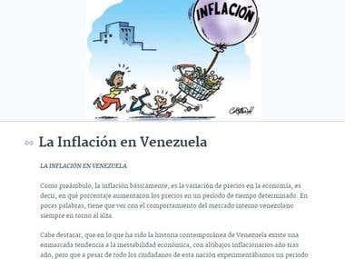 """""""La Inflación en Venezuela"""""""