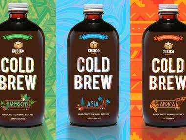 Label Design for Cold Brew Coffee Bottles