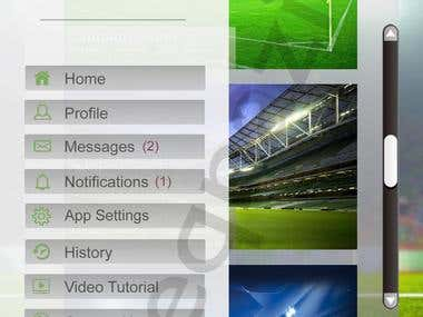 football ground finder app home page