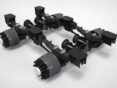 Axels for trailer