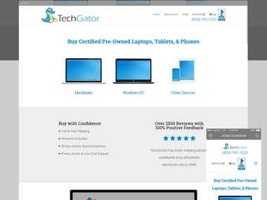 TechGator: eCommerce website