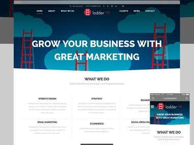 LadderUp: Company Website with eCommerce feature