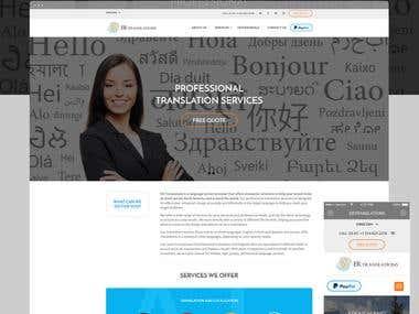ERTranslations: Translation Service company website
