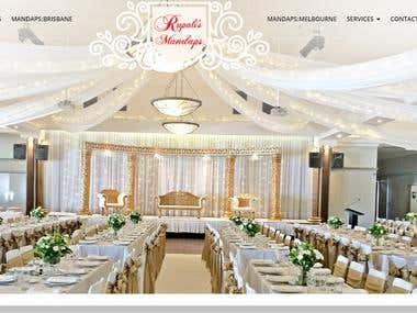 Rupali's Mandap WordPress Website