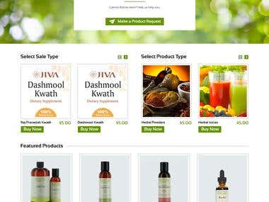 The vedic store E commerce website