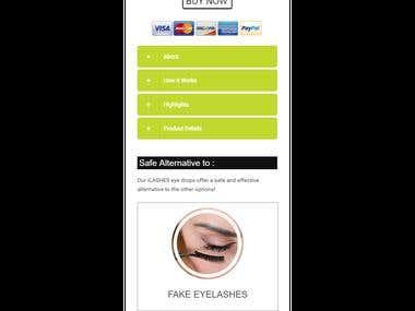 Mobile + Desktop website