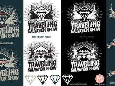 THE TRAVELING SALVATION SHOW LOGO/BRAND/MERCH PRINT DESIGN