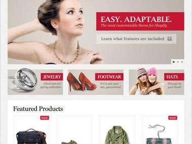 Shopify Site Buildig