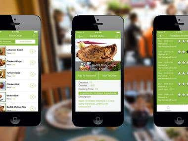 Food Ordering Application for iOS, Android