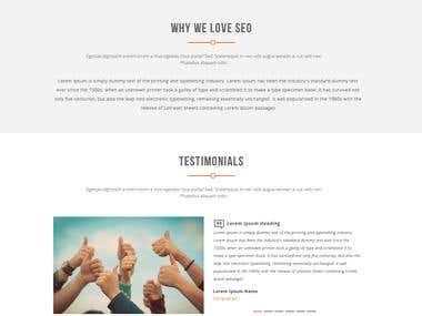 Landing Page PSD Design