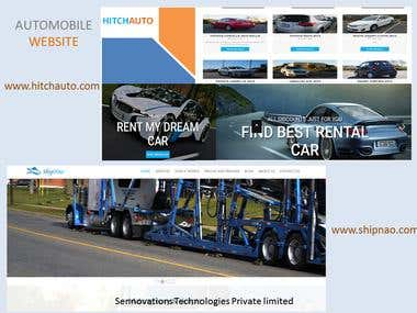 AUTOMOBILE WEBSITE CUSTOM PHP