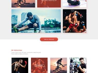 Fitness & Activity Website Design $40