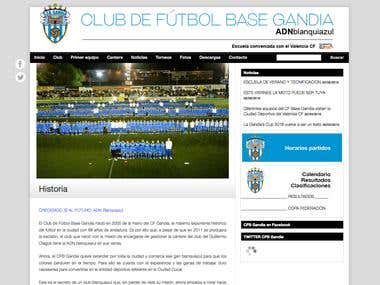 Web Club de Fútbol Gandia
