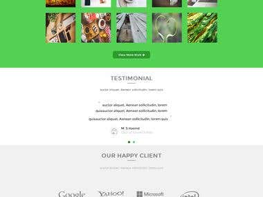 PSD To HTML5 PROJECT SAMPLE