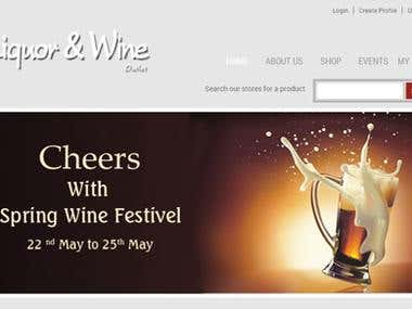 This is a online store site for liqueur and wine.