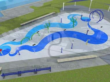 SPLASH PAD PROJECTS - 3D Modeling & CAD