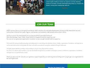 Charity website in wordpress