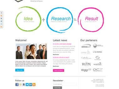 Website for marketing researches