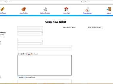 Help & Support Desk - New Ticket Web Form