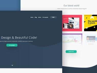 Website design - Dev Flag