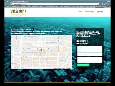 WebSite Hotel Vila Rica em WordPress