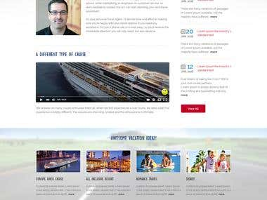 A travel website and logo