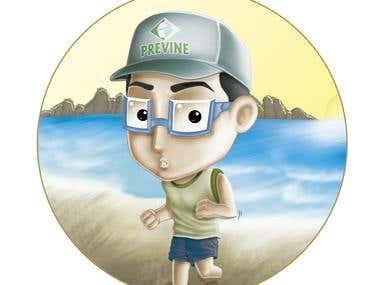 Correndo na Praia (Running on the beach)