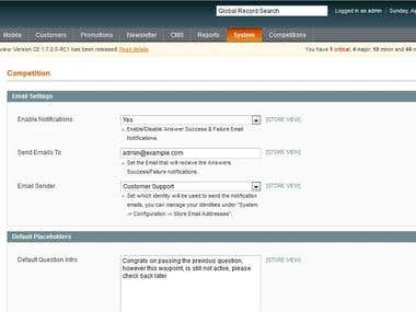 Magento - Competition Module