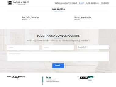 Web Pacha y Soler Estudio Jurídico