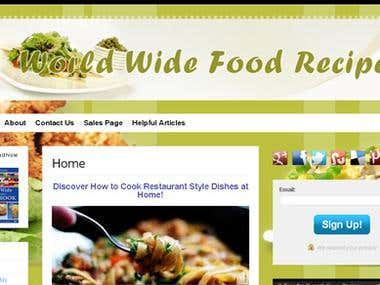 This is worldwide food recipes site .