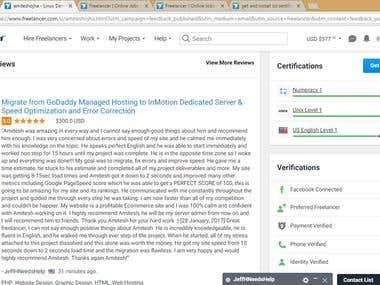 AWS (amazon web services) setup and website optimization