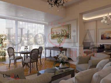 interior villa reception