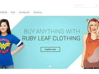Ruby Leaf Clothing Ecommerce Site for US client