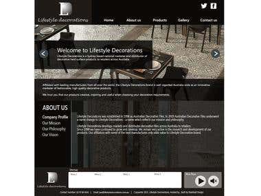 Lifestyle Decorations Web Concepts